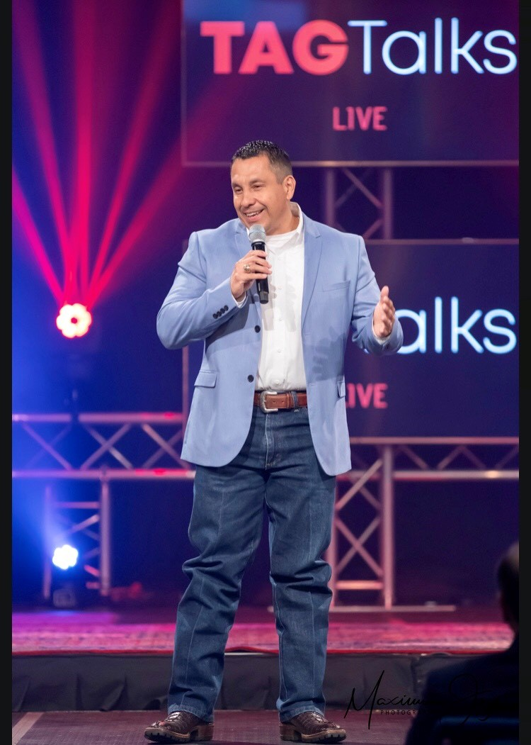 Image of Daniel Gomez Inspires San Antonio Motivational Keynote Speaker, TAG Talks, Tom Bilyeu, Confidence Coach, Leadership and Team Building , Inspirational Speaker